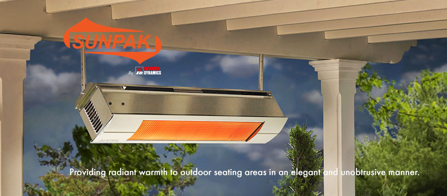 Sunpak heater by Infrared Dynamics